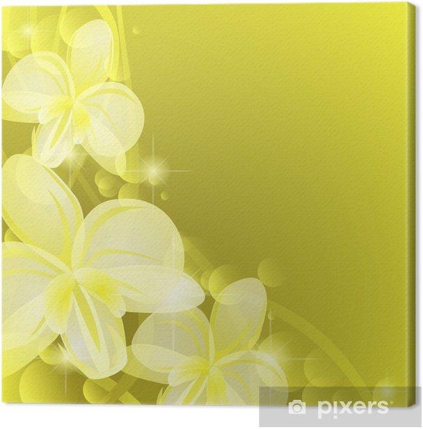 Leinwandbild Hintergrund mit gelben Orchideen - Hintergründe