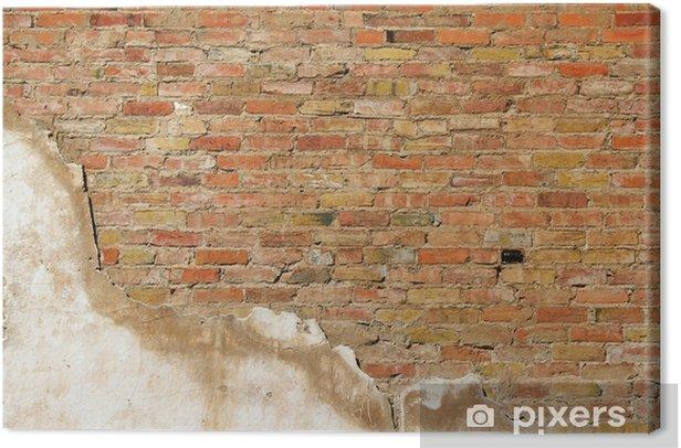Leinwandbild Hintergrund Wand Textur eines alten Profilwand - Schwerindustrie