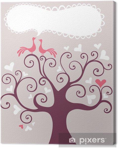 Leinwandbild Hochzeits-Baum - Fröhlichkeit