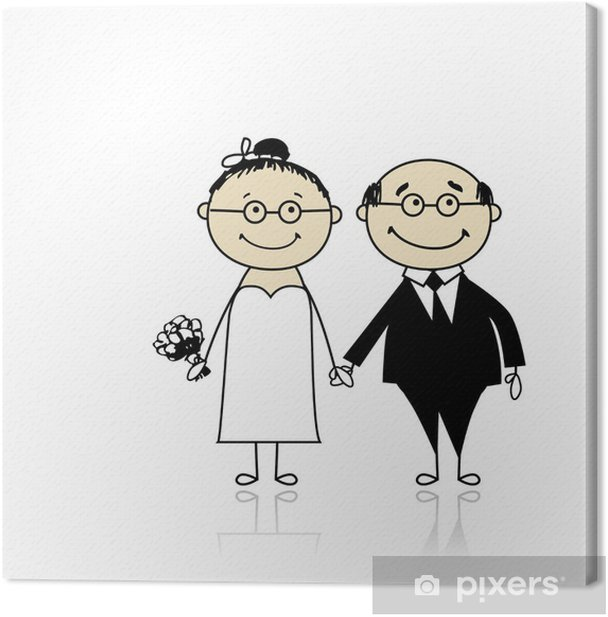 Leinwandbild Hochzeitszeremonie - Braut und Bräutigam gemeinsam für Ihr Design - Feste