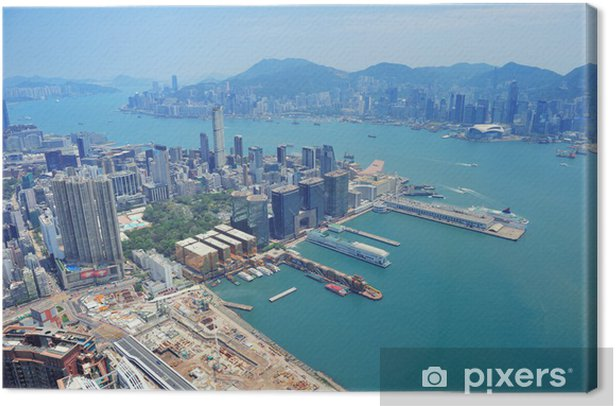 Leinwandbild Hong Kong Luftbild - Asien