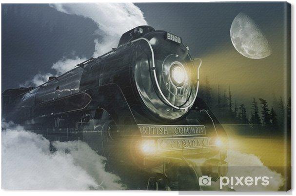 Leinwandbild Hudson Dampflok -