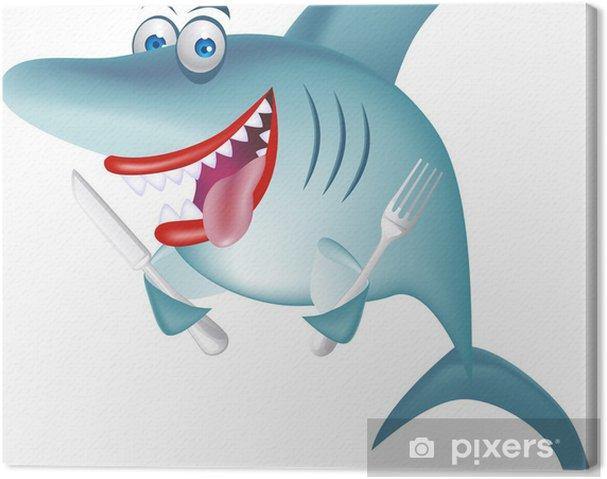 Leinwandbild Hungry Shark - Wandtattoo