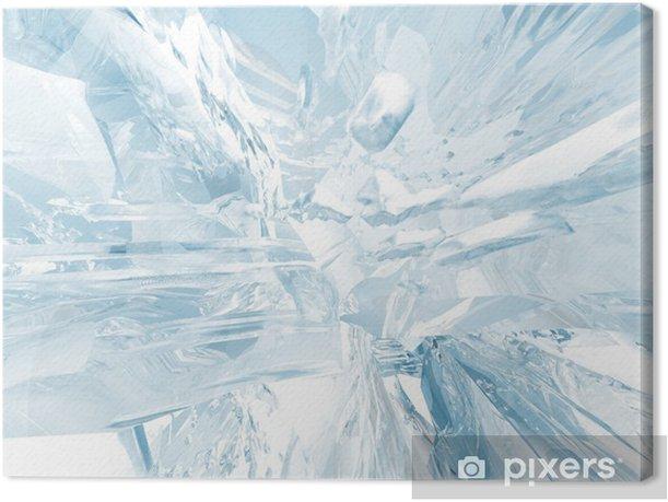 Leinwandbild Ice Hintergrund - Jahreszeiten