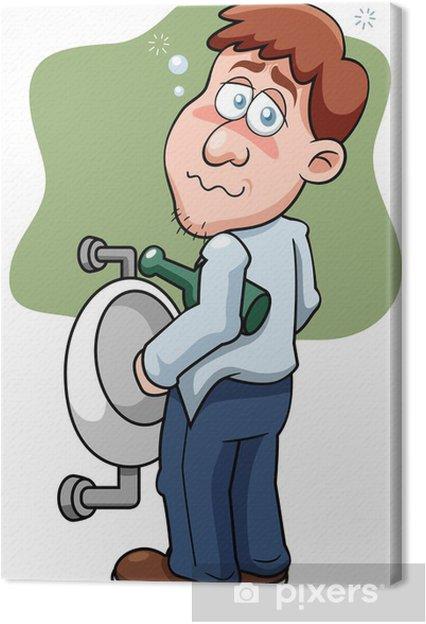 Leinwandbild Illustration Der Cartoon Drunk Man Pixers Wir