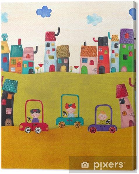 Leinwandbild Illustration für Kinder - Landschaften