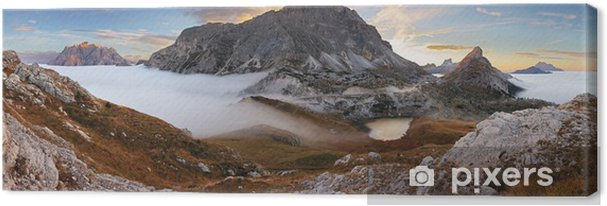 Leinwandbild In den Dolomiten - Passo Valparola - Europa