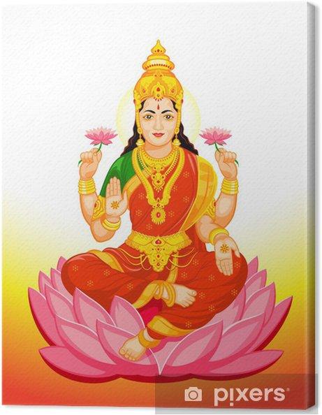 Leinwandbild Indischen Göttin Lakshmi