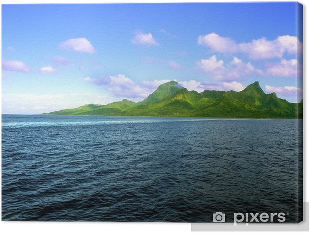 Leinwandbild Insel Moorea (Französisch-Polynesien) - Berge