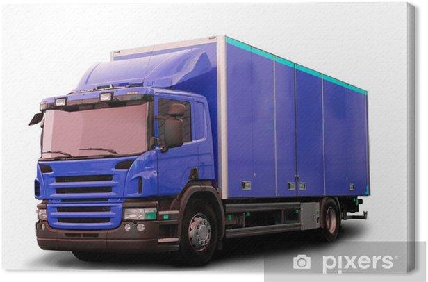 Leinwandbild Isolated Tractor Truck - Straßenverkehr
