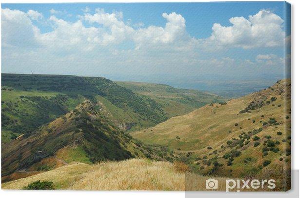 Leinwandbild Israelische Nationalpark Gamla Festung an der Golanhöhen - symbo - Naher Osten