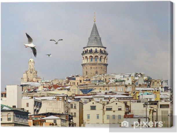 Leinwandbild Istanbul Galata-Turm im Winter - Naher Osten
