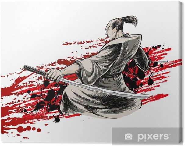 Leinwandbild Japan Krieger - Hintergründe