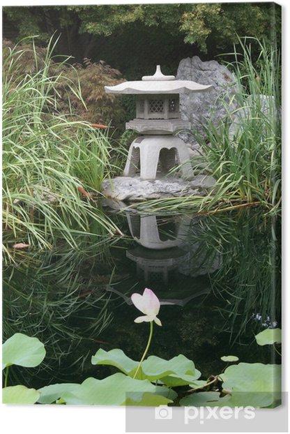 Leinwandbild Japanese garden - Denkmäler