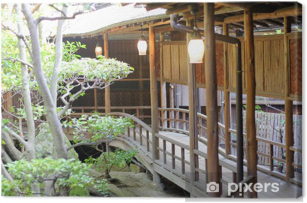 Leinwandbild Japanische Häuser - Asien