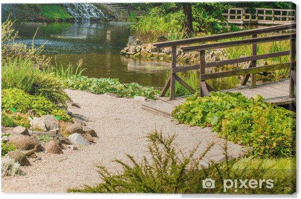 Leinwandbild Japanischen Garten Brücke Pixers Wir Leben Um Zu