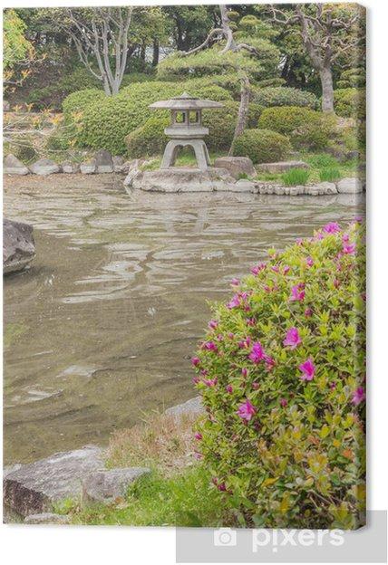 Leinwandbild Japanischen Stil Garten - Private Gebäude