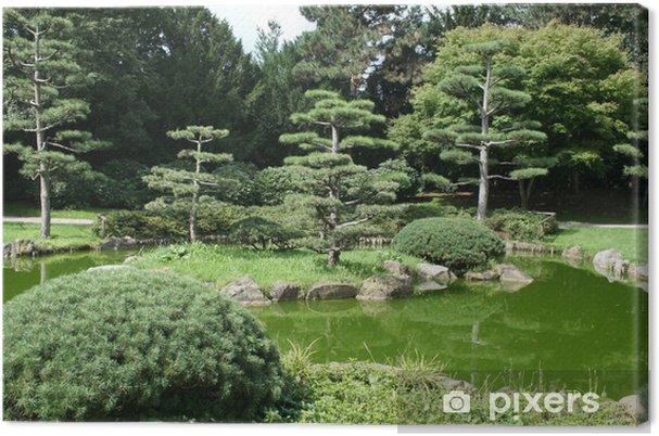 Leinwandbild Japanischer Garten Im Nordpark Düsseldorf Deutschland