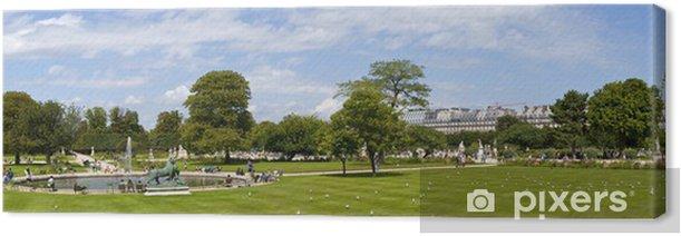 Leinwandbild Jardin Tuileries in Paris - Europäische Städte