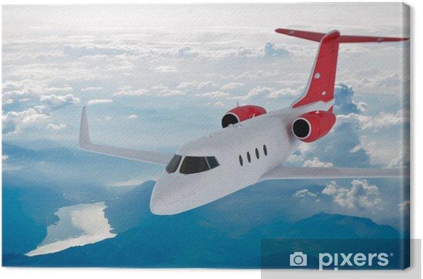 Leinwandbild Jet in den Wolken - Luftverkehr