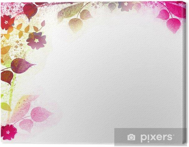 Leinwandbild Joyful floral Retro Hintergrund - Hintergründe