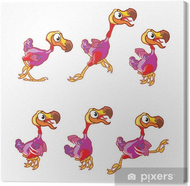 Leinwandbild Jumping Dodo Animations Sprite - Leistung und Erfolg