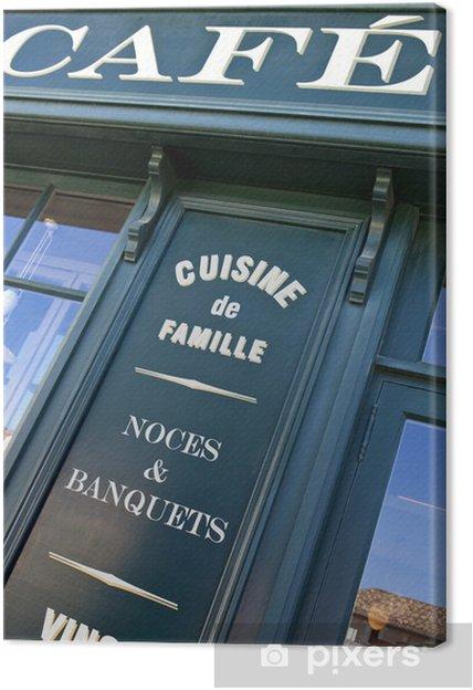 Leinwandbild Kaffee, Bistro, Frankreich, Restaurant, Front, Mittagessen,  retro