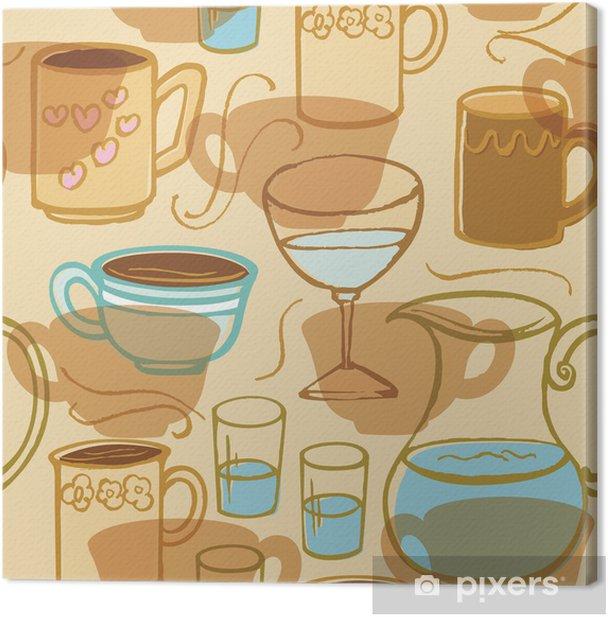 Leinwandbild Kaffee-Tee-Getränk - Gerichte