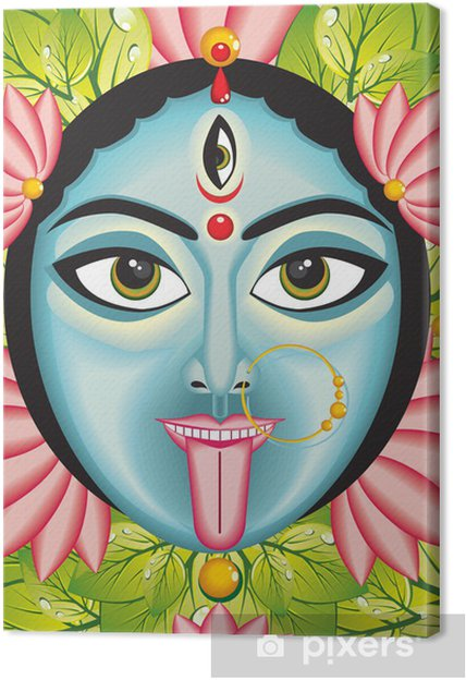 Leinwandbild Kali Indische Göttin Gesicht
