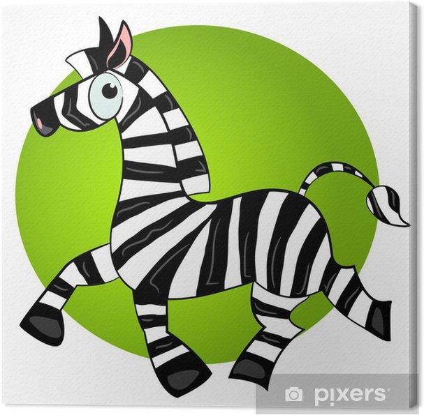 Leinwandbild Karikatur Zebra vector character.striped niedlichen Tier - Säugetiere