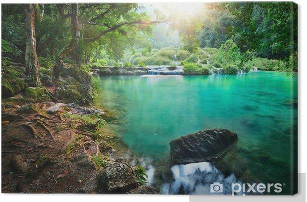 Leinwandbild Kaskaden-Nationalpark in Guatemala - Dschungel