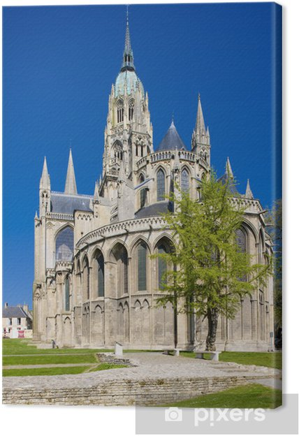 Leinwandbild Kathedrale Notre Dame, Bayeux, Normandie, Frankreich - Europa