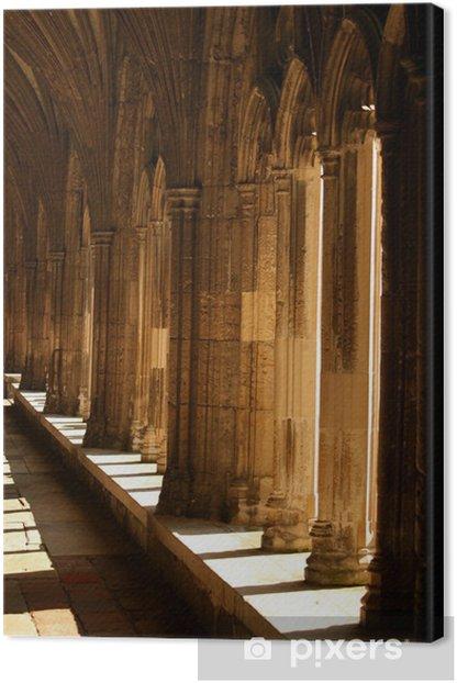 Leinwandbild Kathedrale von Canterbury Korridore - Denkmäler