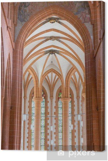 Leinwandbild Kirche Heilige Geist in Heidelberg Deutschland - Europa