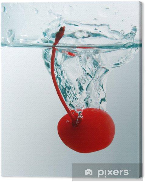 Leinwandbild Kirsche splash - Alkohol