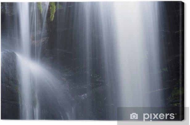 Leinwandbild Kleiner Teil Wasserfall - Wasser