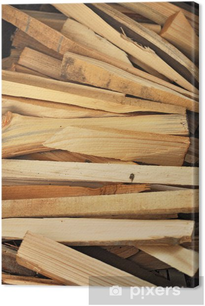 Leinwandbild Kleinholz - Texturen