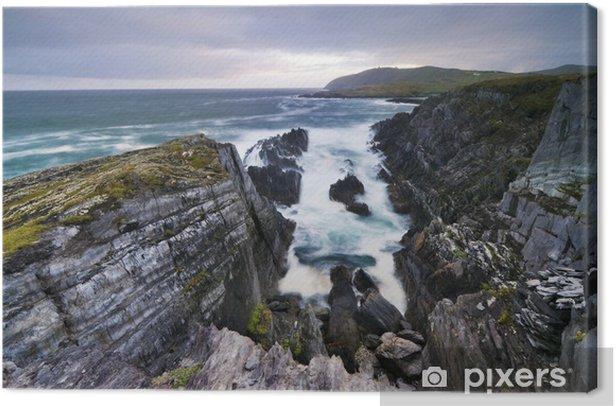 Leinwandbild Klippen über dem Ozean - Wasser