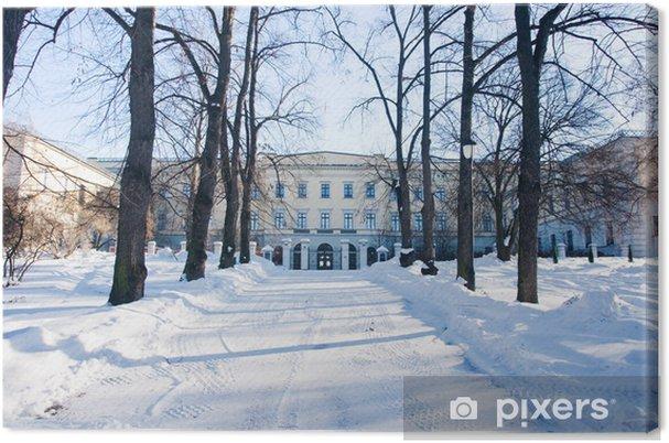 Leinwandbild Königsschloss im Winter - Private Gebäude