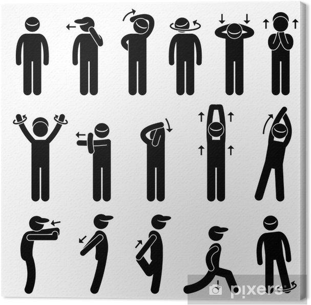 Leinwandbild Körper Stretching Übung - Einzelsportarten