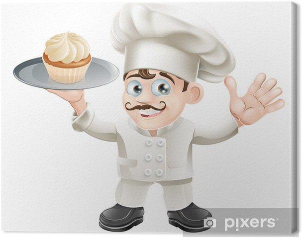 Leinwandbild Kuchen Bäcker - Wandtattoo