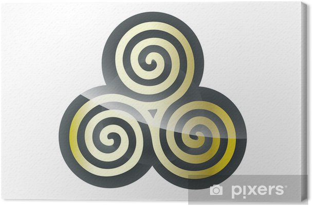 Leinwandbild Kultur Keltisches Symbol Pixers Wir Leben Um Zu