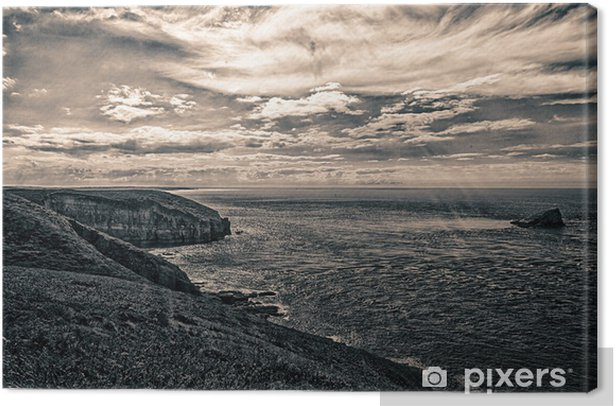 Leinwandbild Küstenstadt Cancale - Wasser