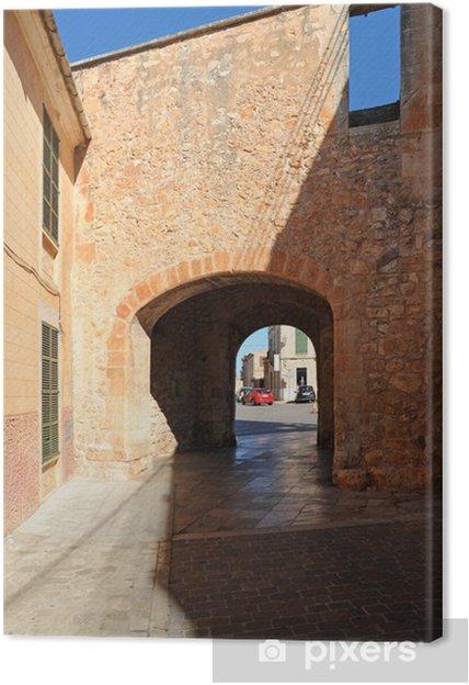 Leinwandbild La Porte Murée (Porta Murada) à à Mallorca Santanyí - Europa
