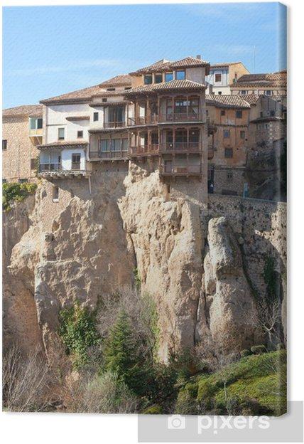 Leinwandbild Las Casas Colgadas bei Cuenca, Spanien - Europa