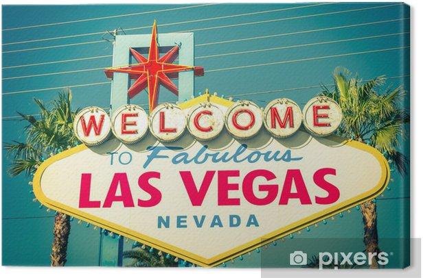 Leinwandbild Las Vegas willkommenes Zeichen - Las Vegas