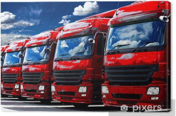 Leinwandbild Lastautos - Schwerindustrie