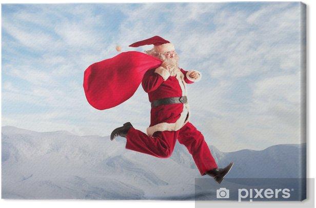 Leinwandbild Laufender Weihnachtsmann - Internationale Feste