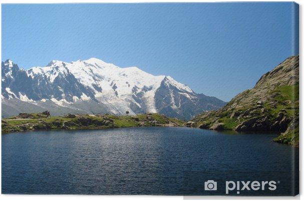 Leinwandbild Le lac de Cheserys et le Mont Blanc - Europa
