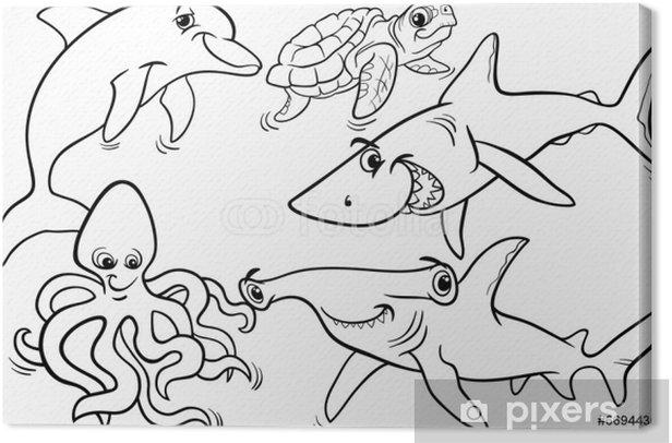 leinwandbild leben im meer tiere und fische malvorlagen